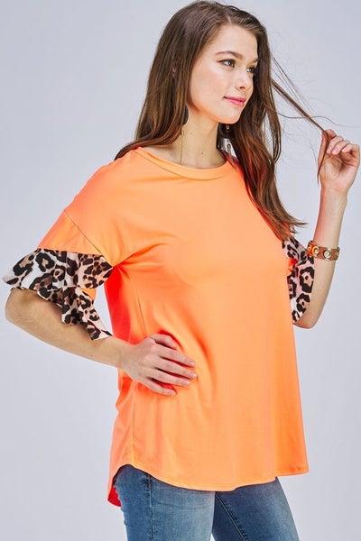 Neon animal sleeve top