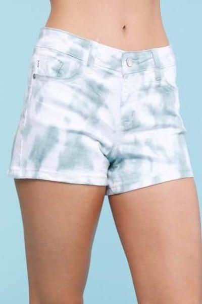 Sage Tie Dye Judy Blue Shorts