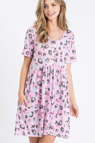Mauve animal print dress
