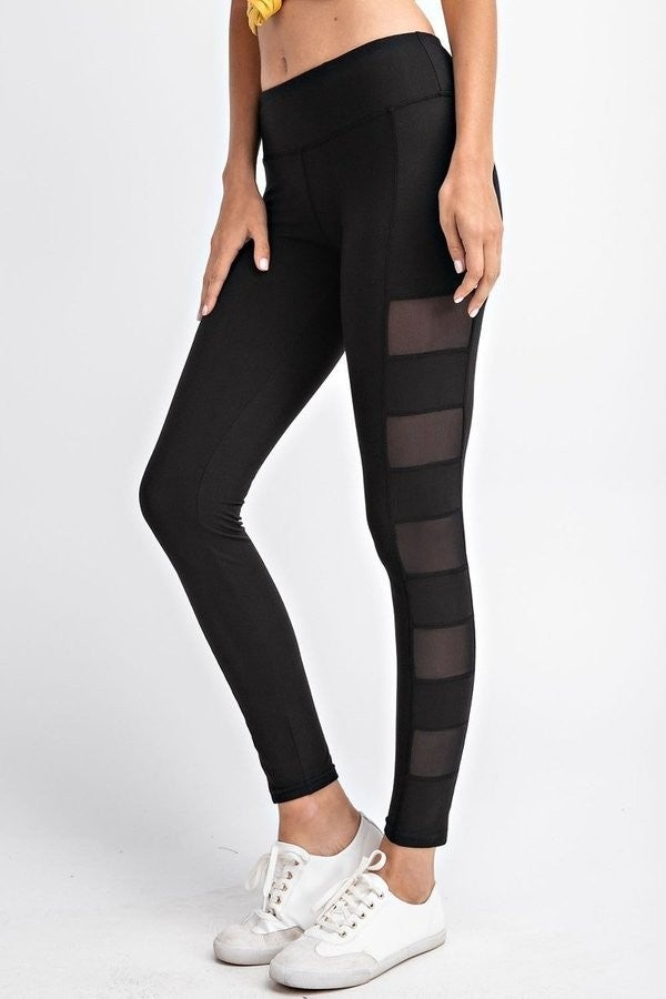 SIDE MESH PANEL YOGA LEGGINGS