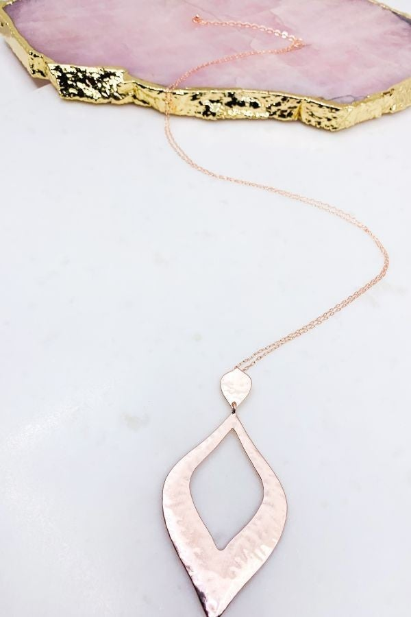 Satin Plated Pendant Necklace
