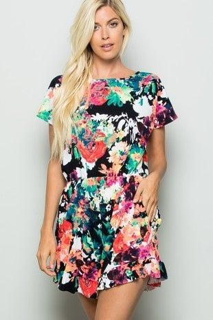 Multicolor floral romper