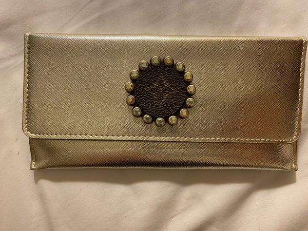 Upcycled Designer Large Silver Wallet