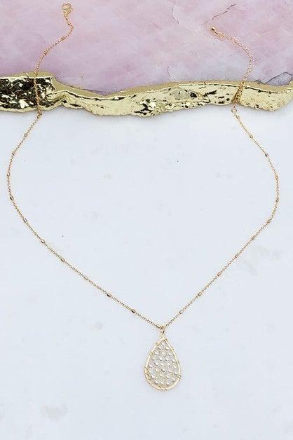 Teardrop Pearl Cluster Necklace