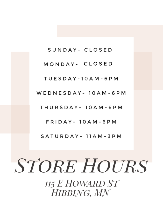 Store Hours & Information
