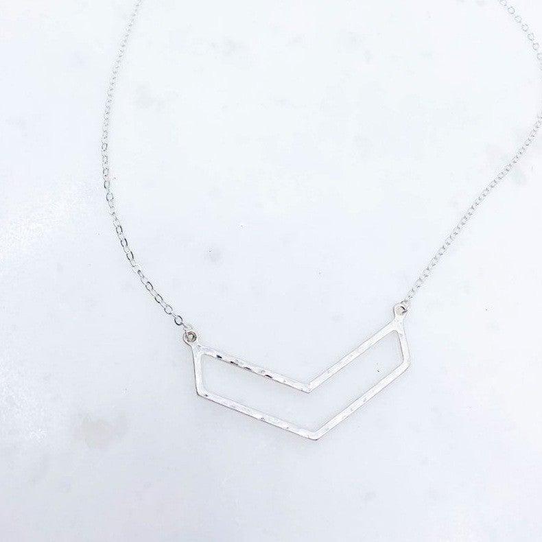 Worn chevron necklace