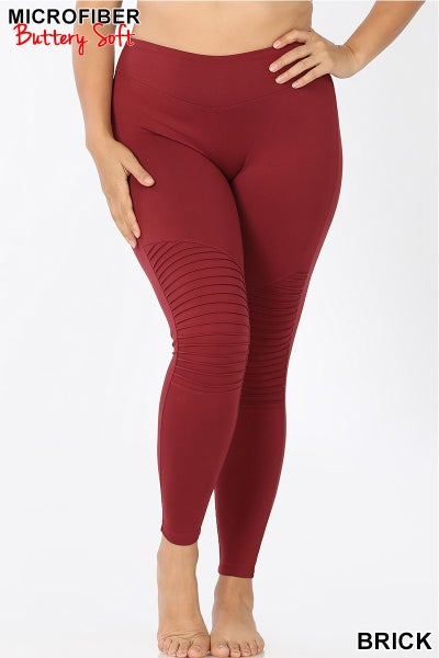 Moto Leggings-Brick