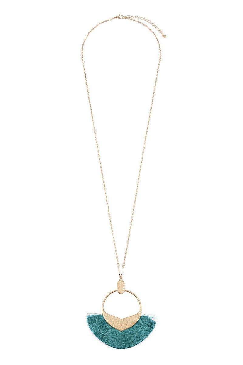 Bohemian Pendant Tassle Necklace