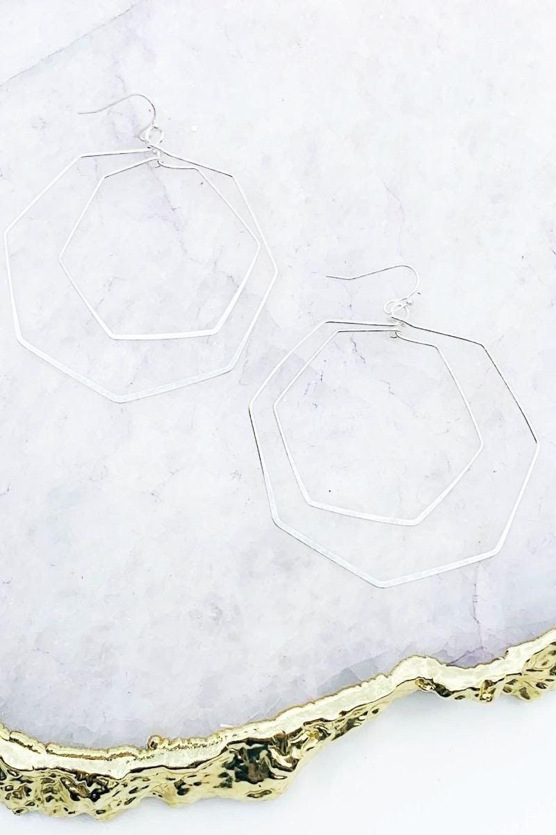 Worn silver Earrings