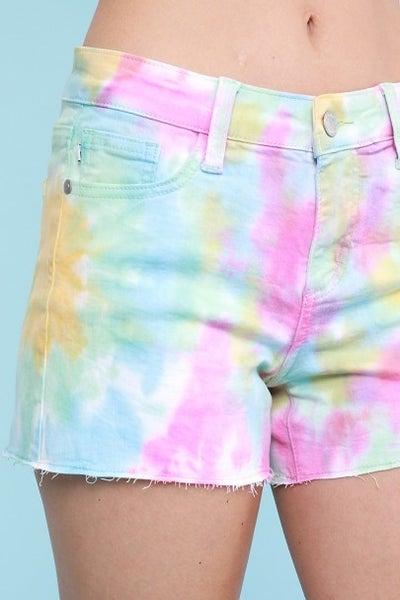 Rainbow Tye Dye Judy Blue shorts