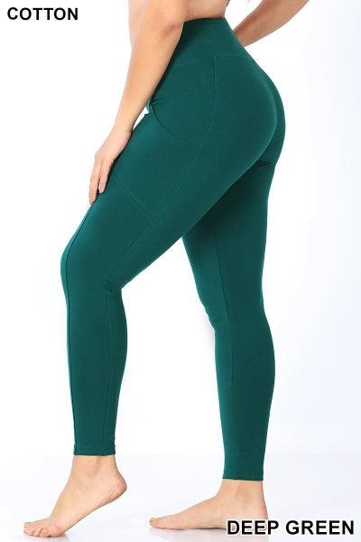 Pocket Leggings- Deep Green