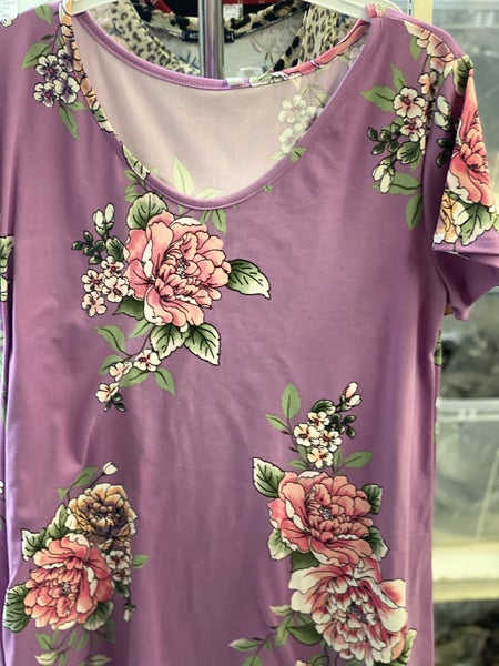 Lilac Floral Tee