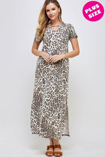 Leopard Keyhole maxi