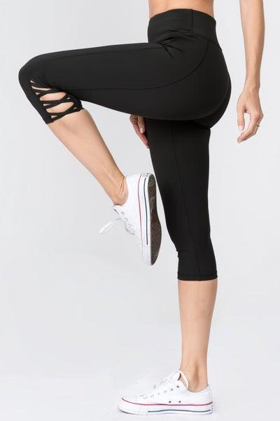 Lattice Capri Cutout Workout Legging