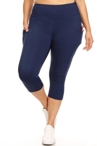 Yelete Active Capri Leggings with pockets