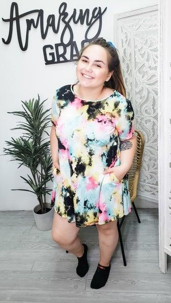 Spray Paint T-shirt dress