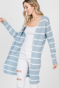 Sky striped cardigan