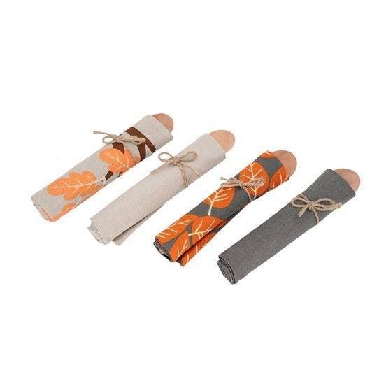 Leaves Dishtowel & Spoon Gift Set