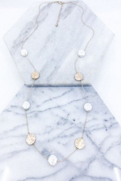 Gold & Pearl beaded necklace