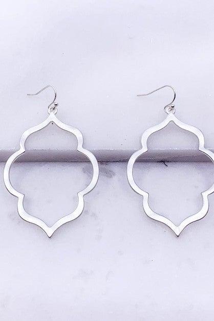 Matte Plated Moroccan Earrings