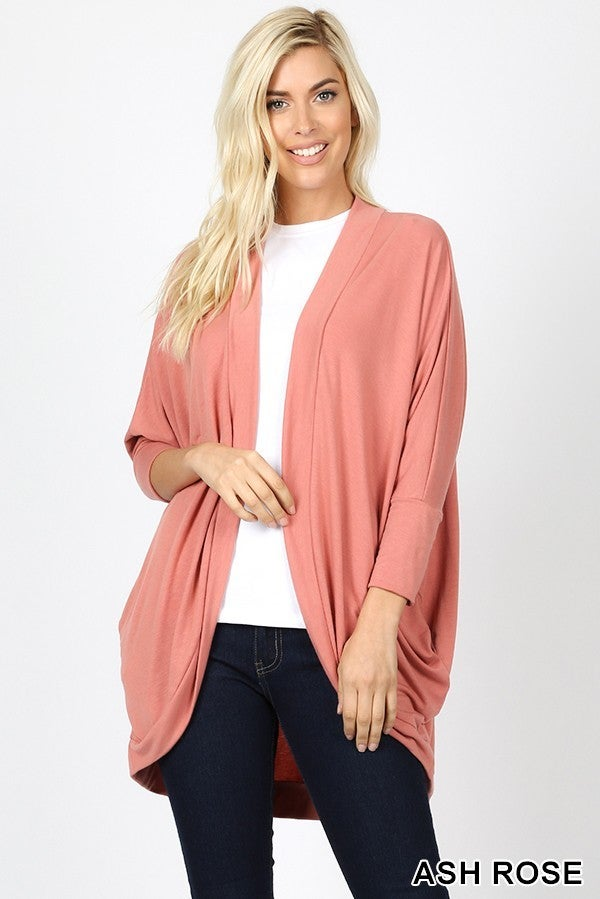 Ash Rose Cocoon Wrap Cardigan