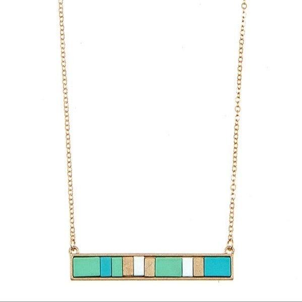 Multi color Bar necklace