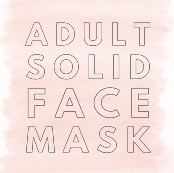 Adult Solid Face Covering