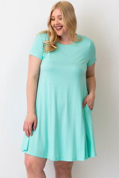 T-shirt dress with criss cross back detail