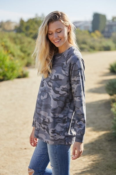 Grey Camo pullover