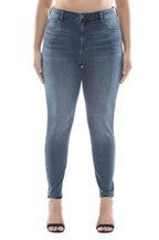 High Rise Straight Cut Skinny Jean