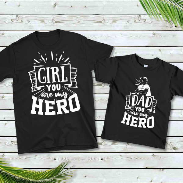 Hero Dad / Girl Graphic Tee