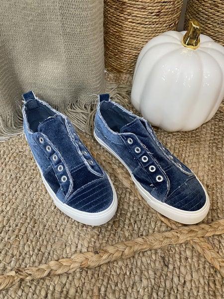 Corkys Babalu Sneaker in Blue Velvet