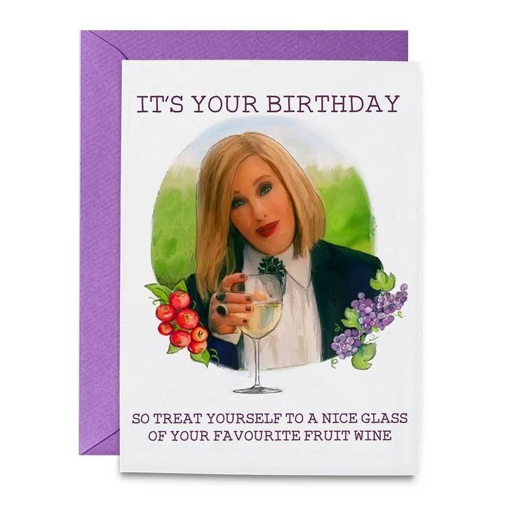 Moira Wine Birthday Card
