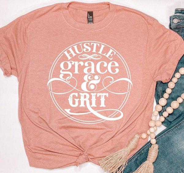 Hustle Grace & Grit Graphic Tee