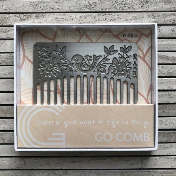 Go- Comb - Metal Wallet Sized Comb