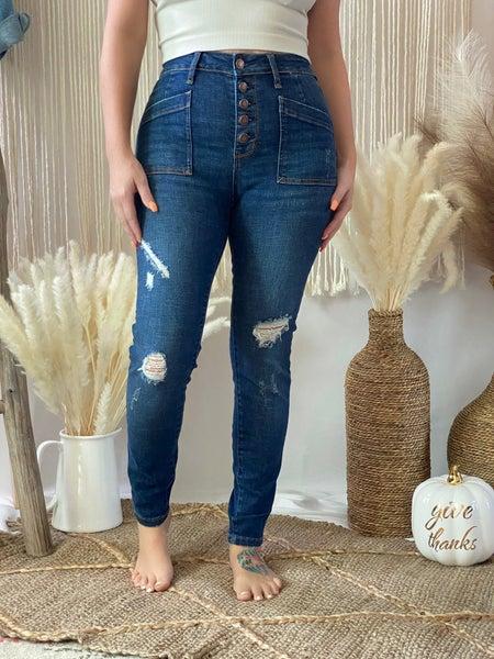 Judy Blue Demi High Rise Cargo Patch Skinny