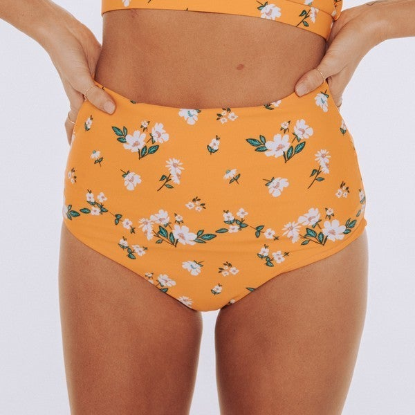 LEISURE - Yellow Floral Ultra High Rise Reversible Bottom - duplicate