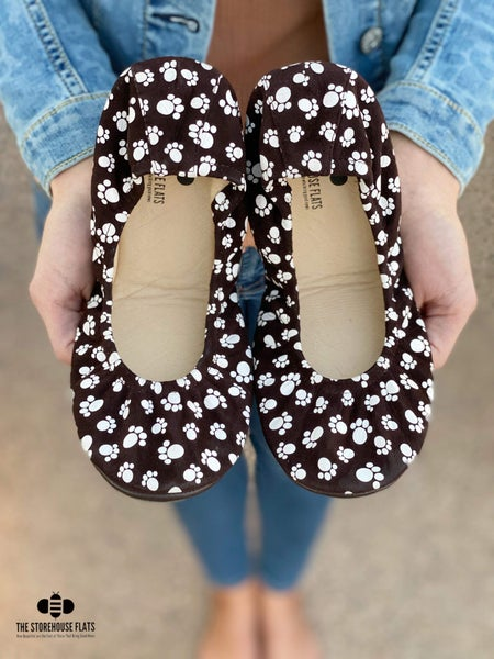 The Storehouse Flats -Furry Friends Printed Suede *Pre-Order*