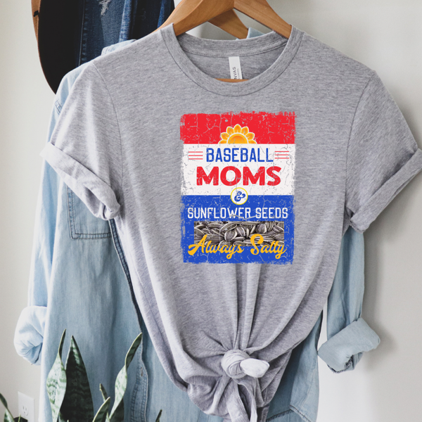 Salty Baseball Moms Graphic Tee