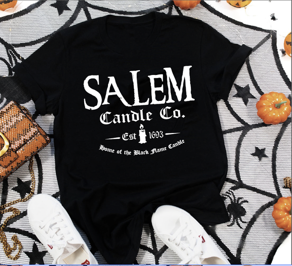 Salem Candle Co. in Black Graphic Tee