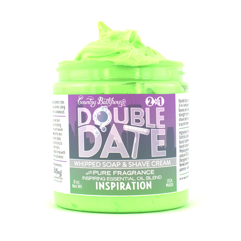 Double Date Whipped Soap and Shave Cream
