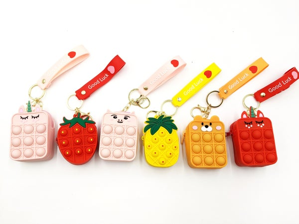 Fruits and Friends Pop It Coin Purse