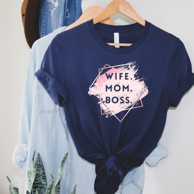Wife Mom Boss Graphic Tee