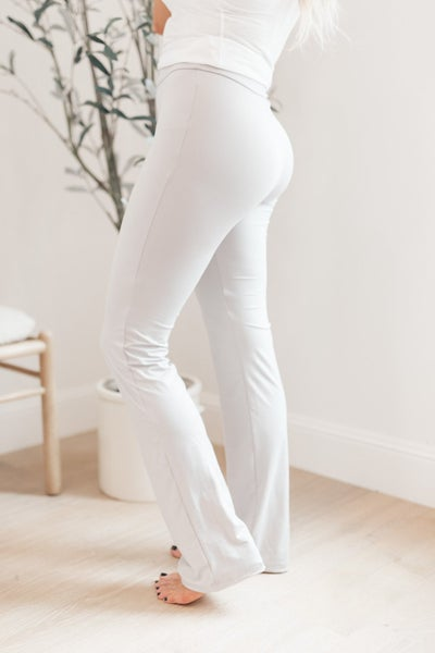 Rainy Day Boot Cut Leggings in Silver