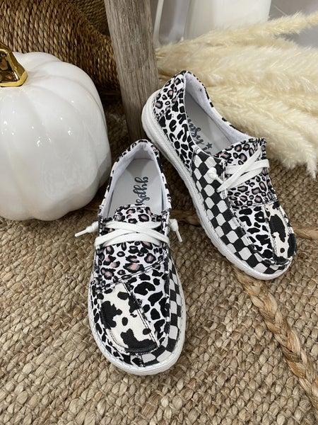 Gypsy Jazz Groovy White Sneaker