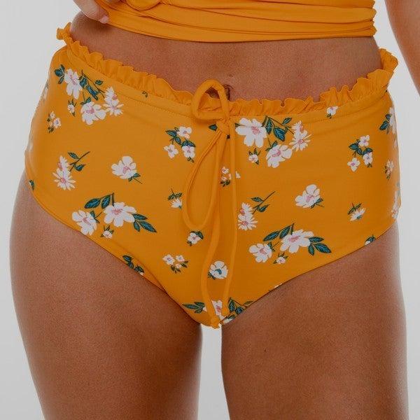 LUSH - Yellow/Ylw Floral Ruffle Reversible MidRise Bottom