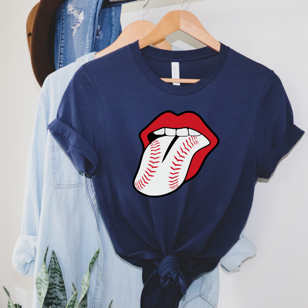Baseball Tongue Graphic Tee