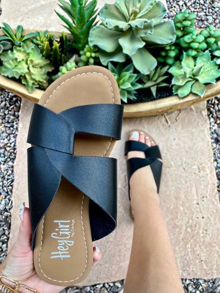 Corkys Jaclyn Scuba Sandal in Black