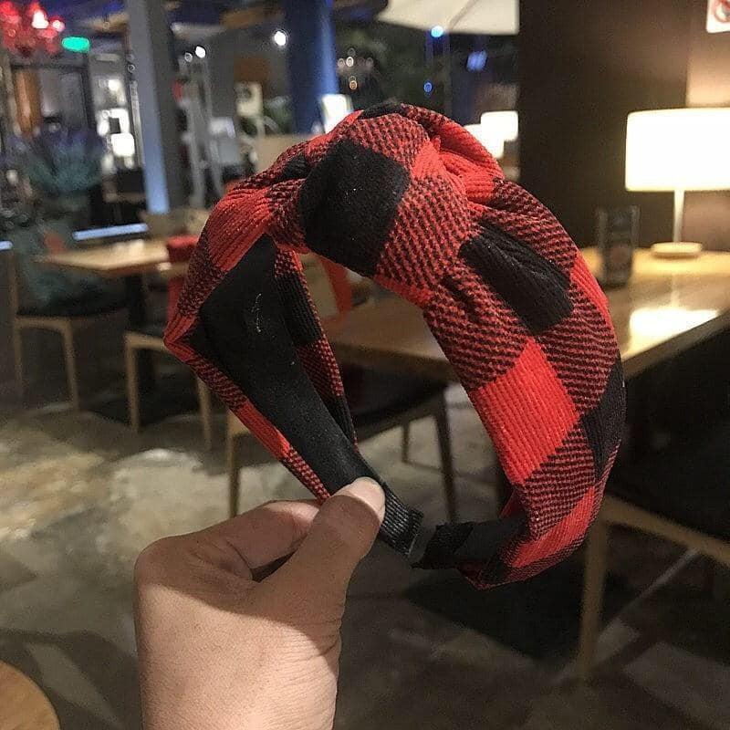Twist Knot Buffalo Plaid Headbands