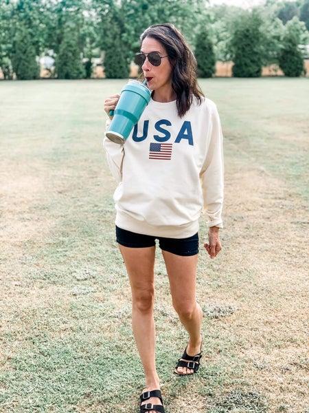USA Vanilla Graphic Pullover